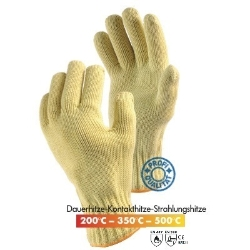 Kevlar® Double knitted gloves 350°C l=35cm