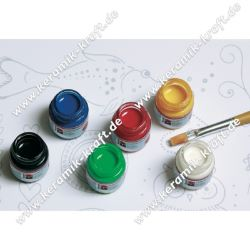 Mar.-Ceramica Sort.6tlg.15ml+Pinsel