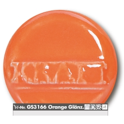 Stoneware glazes orange brilliant  -uni- 1220-1260°C