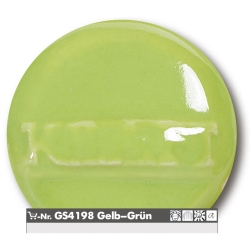 Stoneware glazes yellow -green brilliant  -uni- 1220-1250°