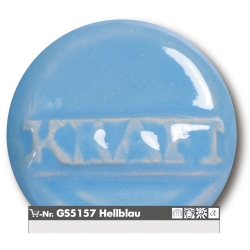 Stoneware glazes light blue brilliant  -uni- 1220-1260°C