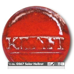 Stoneware glazes solar light red -1250°