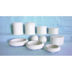 M44 Plaster mould smooth container h=12,5cm