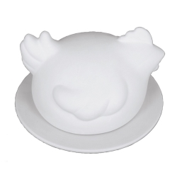 Plaster mould chicken round box 18cm cover