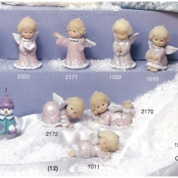 M67 Plaster mould Angel with book h=10cm
