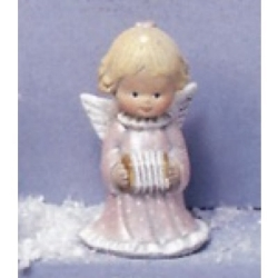 M67 Plaster mould Angel with Accordeon h=10cm