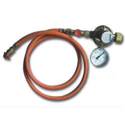 Hose connection for L.P.G. (liquified petroleum gas) incl. gauge