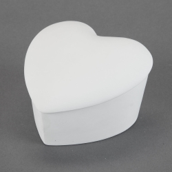 Heart-Box inclined d.12cm, h.7,5cm