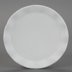 Plate with waven-Rim d.25cm