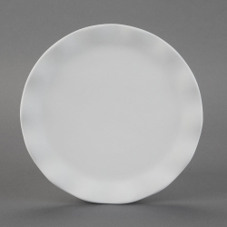 Plate with waven-Rim d.20cm