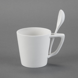 Mug with Spoon h.10cm