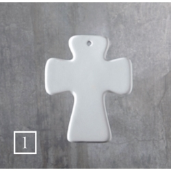BQ SM CROss ORNAMENT