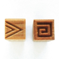 Clay decoration Stamp square b=1,5cm