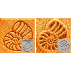 Clay decoration Stamp square b=3cm