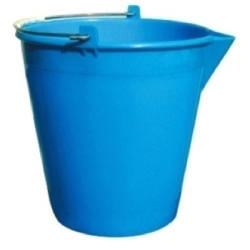 Bucket with spout and scale 15l solid PE