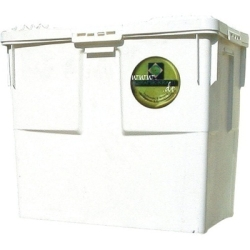 Clay container with cover 80 Liters refurbished