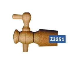 Wood-Tap 75 mm with cork-stopper